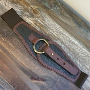 Another Line Wide Stretch Cinch Belt